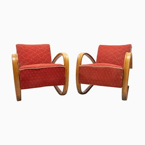 H-269 Bentwood Armchairs by Jindrich Halabala, Set of 2