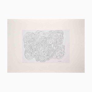Maurizio Gracceva, Composition- Original India Ink and Watercolor, 2010