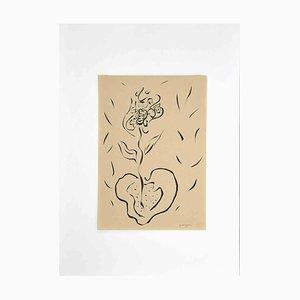 Maurizio Gracceva, Flower Pot, Original Ink Drawing, 2010