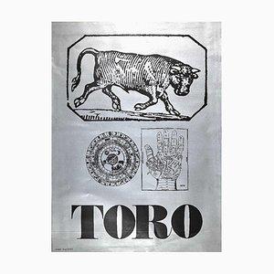 Sergio Barletta, Star Sign Taurus, Original Screen Print, 1973