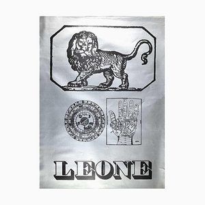 Sergio Barletta, Star Sign Leo, Original Screen Print, 1973