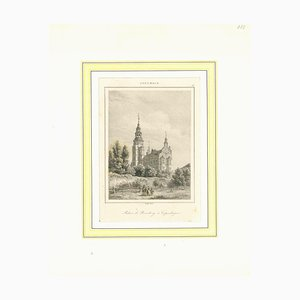 Unknown, Ancient View of Palais De Rosenberg, Lithograph on Paper, Early 19th-Century