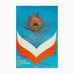 Unknown, Polish Forum Poster, Vintage Photolithograph, 1974