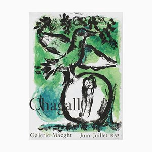 Expo 62 Poster, Galerie Maeght, Marc Chagall
