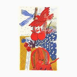 Le Chat et L'oiseau by Alecos Fassianos