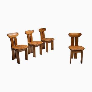 Italian Dining Chairs from Mobilgirgi, Italy, 1970s, Set of 4