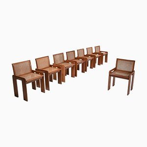 Italian Dining Chair in Walnut with Cane Seating