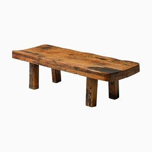 Wabi Sabi Zen Rustic Modern Oak Bench or Coffee Table