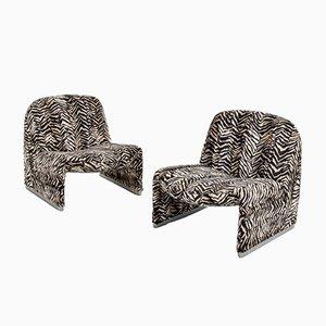 Zebra Alky Chairs by Giancarlo Piretti, Set of 2
