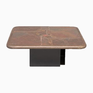 Square Handmade Coffee Table by Paul Kingma, 1970s