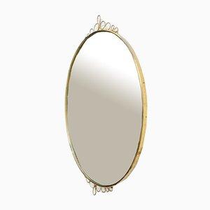 Mid-Century Modern Brass Wall Mirror, Italy, 1960s