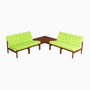Modular Sofa by Ole Gjerløv-Knudsen & Torben Lind for France & Son, 1960s, Set of 5