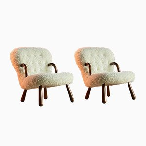 Muslingestole Clam Chairs by Philip Arctander, Set of 2