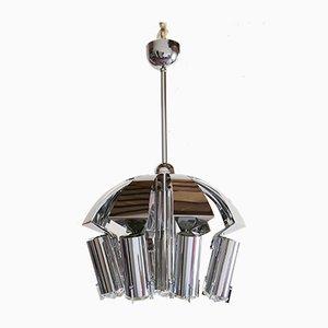 Chrome Pendant Lamp Attributed to Goffredo Reggiani, 1970s
