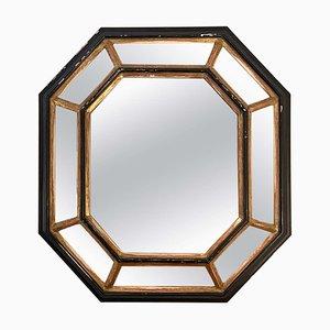 Octagonal Cushioned Mirror, 1940s