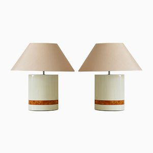 Mid-Century Modern Table Lamps by Tommaso Barbi, Italy, 1970s, Set of 2