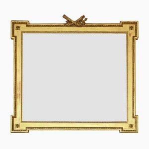 Large Gilt Overmantle or Wall Mirror, 19th Century