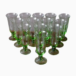 Antique Bohemian Glasses, Set of 12