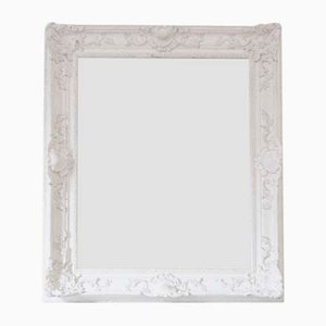 Large Natural Gesso Overmantle or Wall Mirror, Mid-20th Century