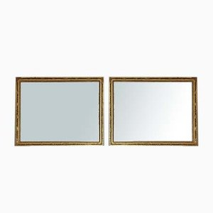 Gilt Overmantle or Wall Mirrors, 19th Century, Set of 2