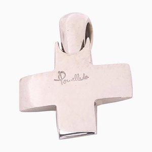 18K White Gold Cross Pendant from Pomellato