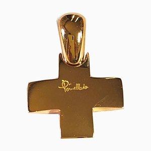 18K Rose Gold Cross Pendant from Pomellato