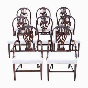 Georgian Mahogany Dining Chairs, 1760s, Set of 8