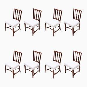 Georgian Mahogany Dining Chairs, 1820s, Set of 8