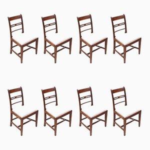 Georgian Mahogany Dining Chairs, 1800s, Set of 8