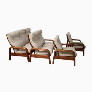 Mid-Century Danish Living Room Set, Set of 4