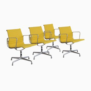 Vintage Aluminium EA108 Office Chairs by Charles & Ray Eames for Vitra, Set of 4
