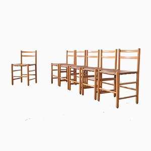 Dining Chairs by Ate of Apeldoorn for Woodworking Hattem, 1960, Set of 6