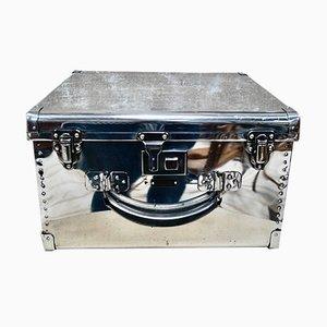 Vintage Aluminium Hat Box Lockheed