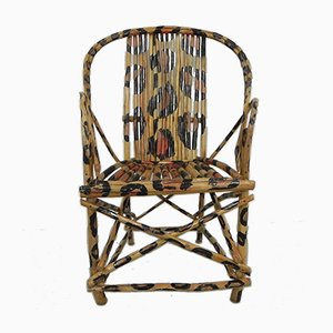 African Painted Leopard Chair