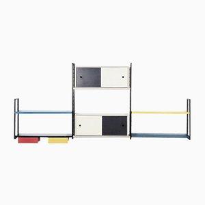 Dutch Modernist Wall Unit, 1950s