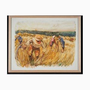 Lucien Desmaré, Hay Harvest in Tildonk