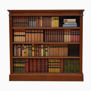 Spätviktorianisches Bücherregal aus Nussholz