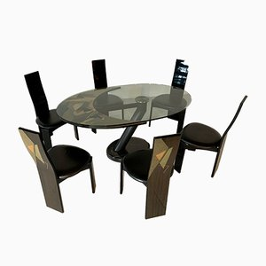 Postmodern Dining Chairs from Pietro Constantini, Set of 7