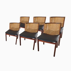 Italian Rio Rosewood Dining Chairs by Tito Agnoli, 1960, Set of 6