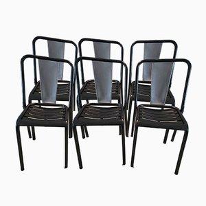 Model T4 Chairs from Xavier Pauchard, 1950, Set of 6