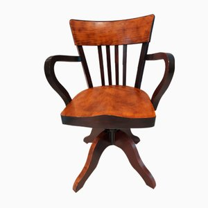 American Wooden Swivel Chair, 1940s