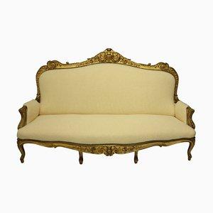 Large English Giltwood Sofa, 19th Century