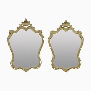 Italian Gesso Mirrors, Set of 2