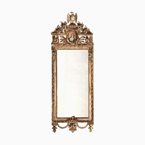 Gustavian Mirror with Rich Carving & Gilding, 1770s