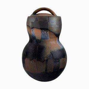 Large Lidded Jar in Glazed Stoneware
