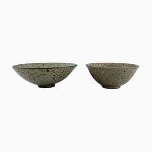 Bowls in Glazed Stoneware, Late 20th-Century, Set of 2