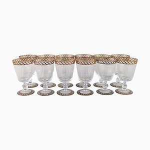 Water Glasses in Mouth-Blown Art Glass from Nason & Moretti, 1930s, Set of 12