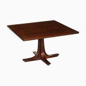 Small Veneered Wood Table, Italy, 1960s