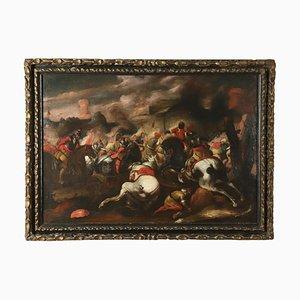 Scena di Battaglia, Oil on Canvas