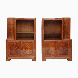 Art Deco Bedside Cabinets, Set of 2